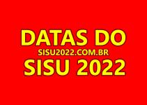 Datas do SISU 2022