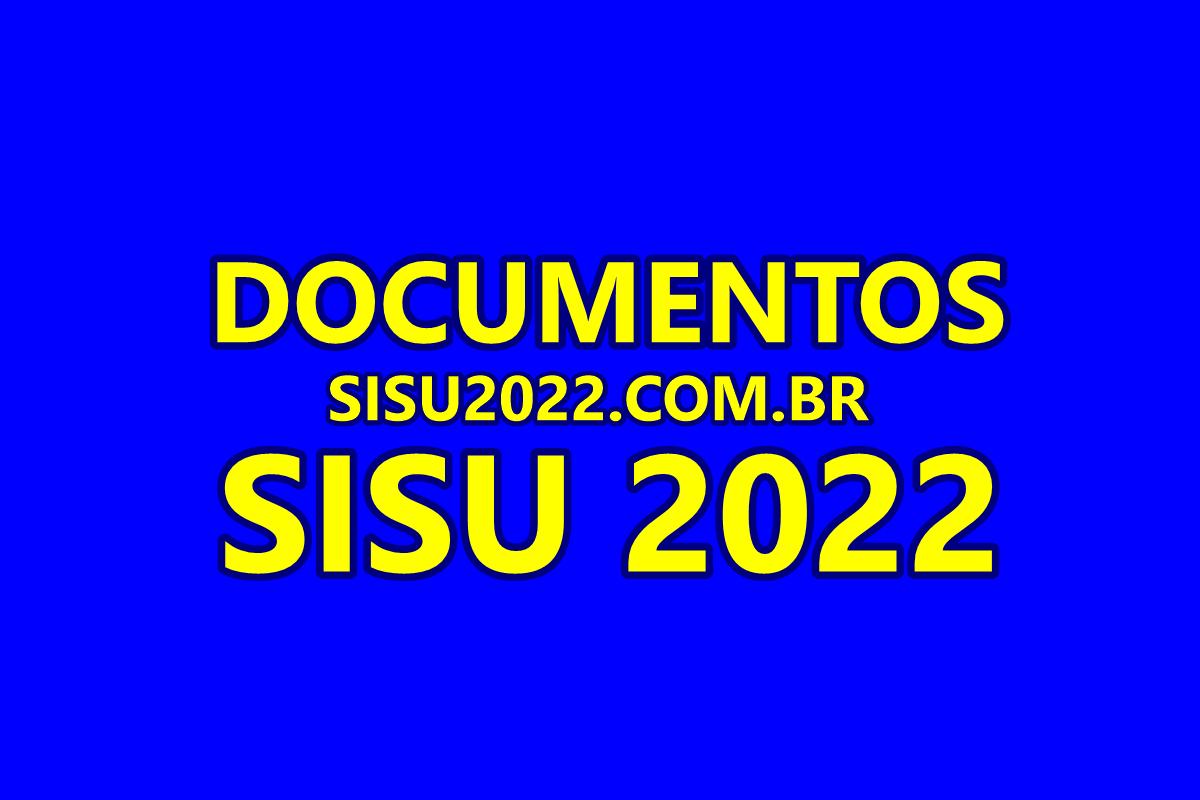 Documentos SISU 2022