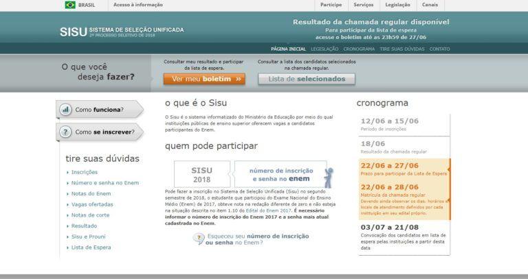 Página do Participante